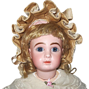 """French A Steiner - 17 1/2"""", closed mouth, perfect bisque, marked head and and body."""