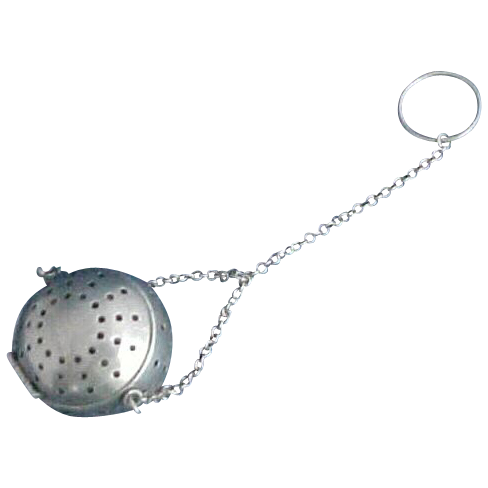 Sterling Silver Tea Ball by R. Blackinton with Y Shaped Chain