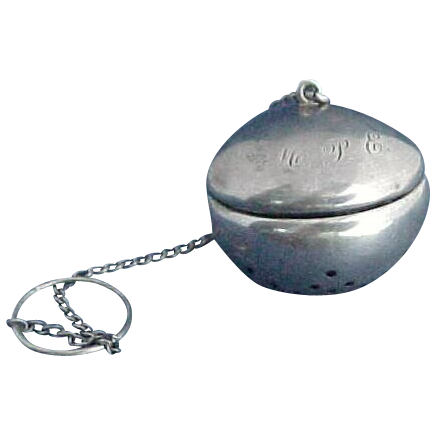 Fab Hinged Sterling Silver Tea Ball by Watson Over the Spout Style