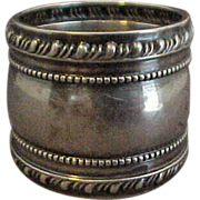 Large Ornate Sterling Silver Napkin Ring by Gorham