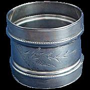 Gorham Aesthetic Sterling Silver Napkin Ring Date Mark 1877