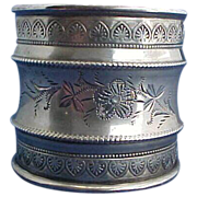 Large Fancy Sterling Silver Napkin Ring with Great Details