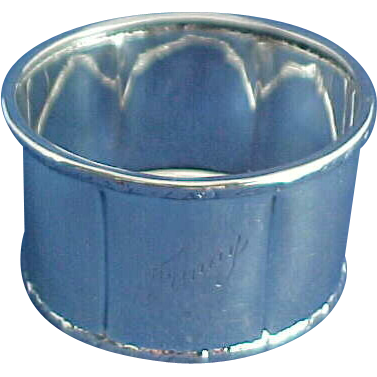 800 Sterling Silver German Napkin Ring Engraved Fanny