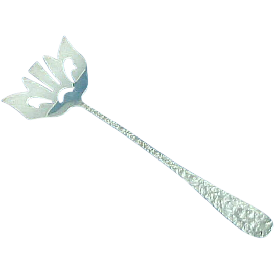 Stieff Rose by Stieff  Sterling Silver Bacon Fork Repousse