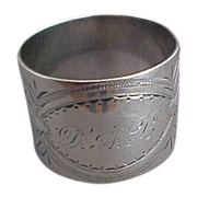 Gorham Aesthetic Sterling Silver Napkin Ring Date Mark 1873