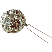 Ornate Sterling Silver Tea Ball Strainer Basket by R. Blackinton