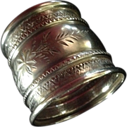 Large Aesthetic Sterling silver Napkin Ring Unmonogrammed