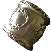 Large Ornate Sterling silver Napkin Ring by Alvin