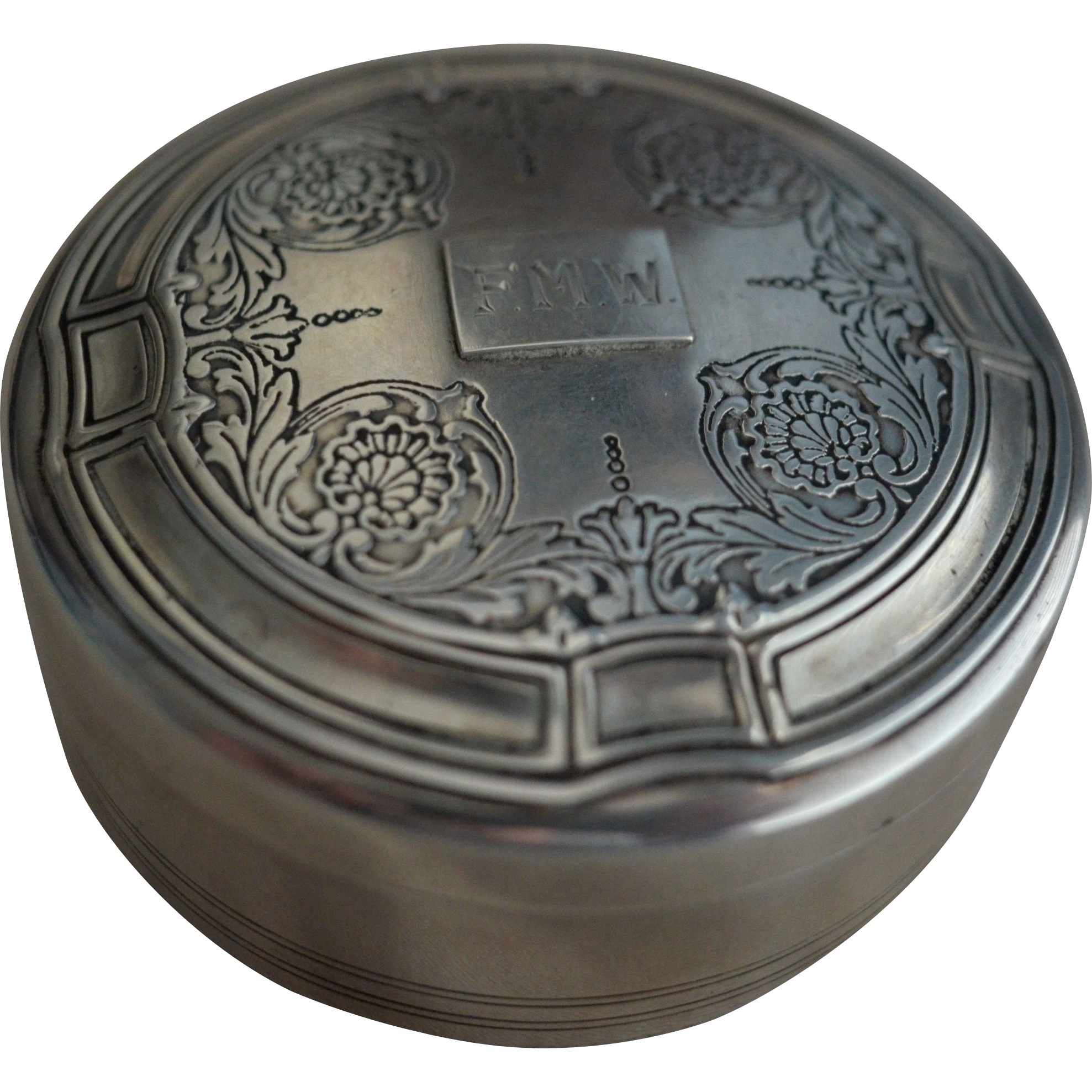 Large Tiffany Sterling silver Powder or Trinket Box