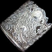 Ornate Sterling silver Bottle, Glass or Vase Holder - Red Tag Sale Item