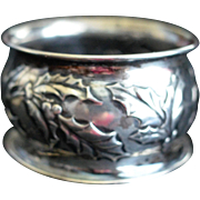 Holly Sterling silver Napkin Ring