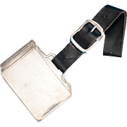 Sterling silver Suitcase or Briefcase Luggage Tag by Reed and Barton