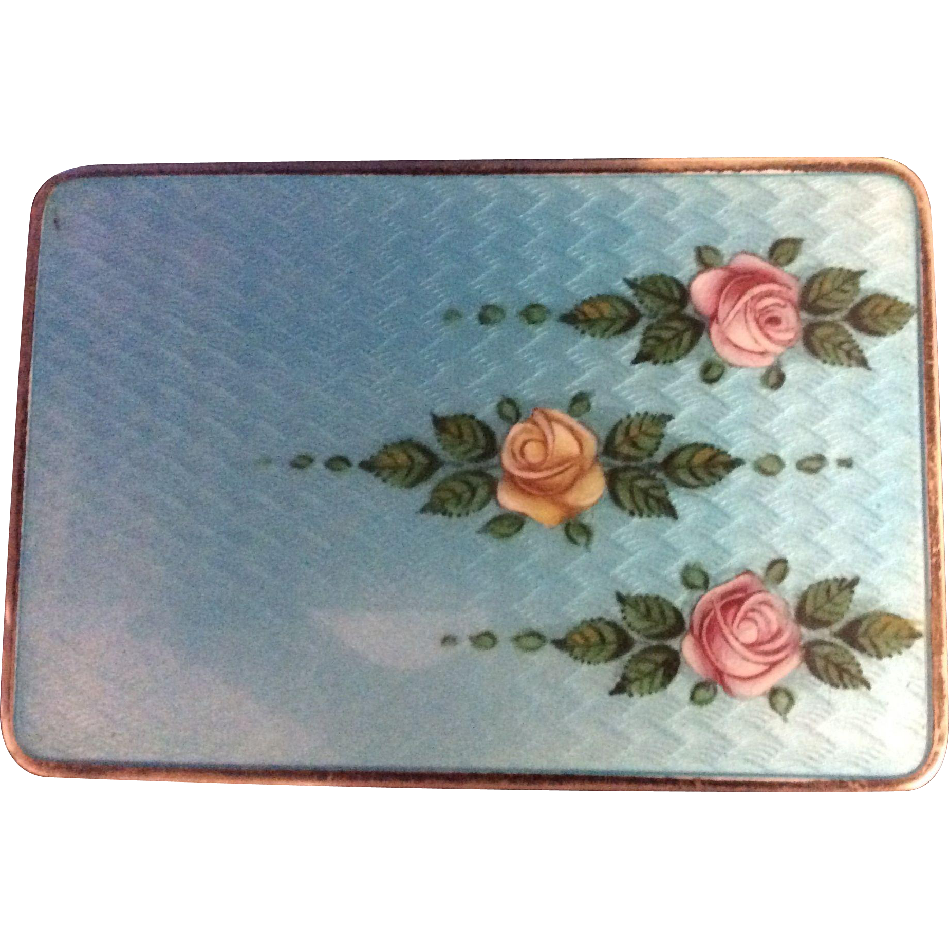 Magnificent Sterling silver Enamel Box or Case