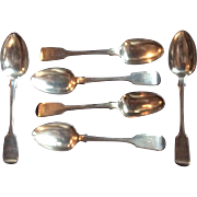 Irish Sterling silver Set of 6 Spoons Dublin 1869