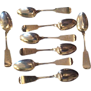 8 Plain Tip by Whiting Sterling silver Sou Place or Dessert Spoons