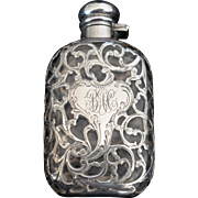 Sterling silver Lady's Flask by Alvin
