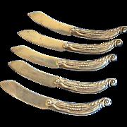 5 Funky Gorham 2250 Corn Cob Sterling silver Spreaders