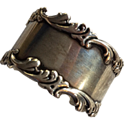 Ornate Sterling silver Wave Edge Napkin Ring