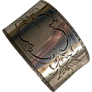 Aesthetic Engraved Sterling silver Napkin Ring by Frank Whiting