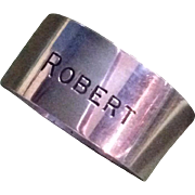 Wallace Sterling silver Napkin Ring Engraved Robert by Wallace