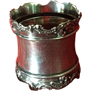 Extra Large and Fancy Sterling silver Napkin Ring Serviette Holder by Wallace