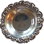 Ornate Victorian style Sterling silver Bowl or Candy Dish