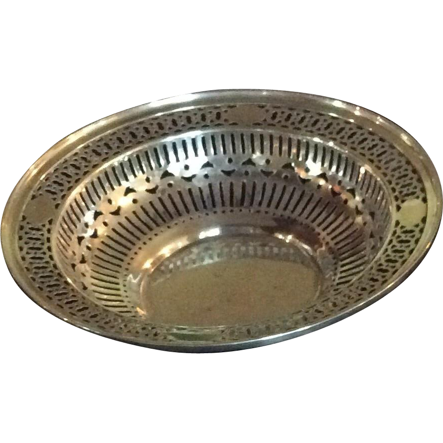 Ornate pierced Sterling Silver Bowl