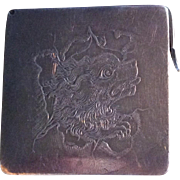 Sterling silver Stamp Box with Dog