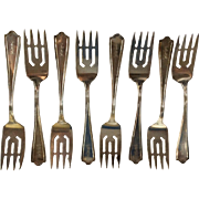 8 Maryland by Alvin Sterling silver Salad or Dessert Forks