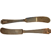 2 Fairfax by Durgin Sterling silver Flat Butter Spreaders