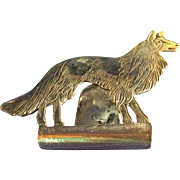 Sterling silver Dog Napkin or Serviette Holder