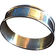 Kappa Kappa Gamma Sterling silver Napkin Ring or Serviette Holder
