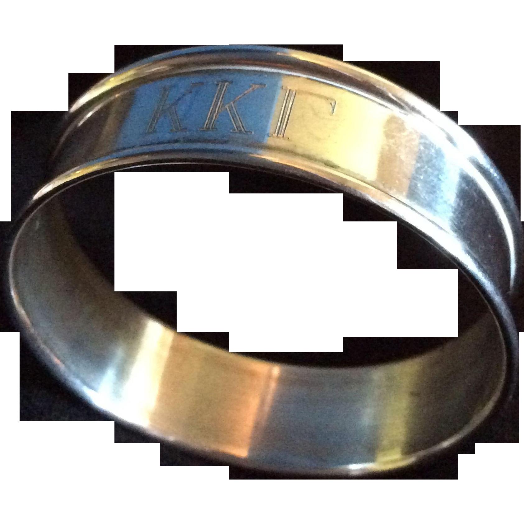 Kappa Kappa Gamma Sterling silver Napkin Ring or Serviette Holder