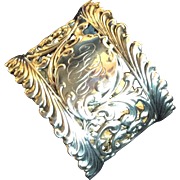 Ornate huge Sterling Silver Napkin Ring Serviette Holder by Wallace