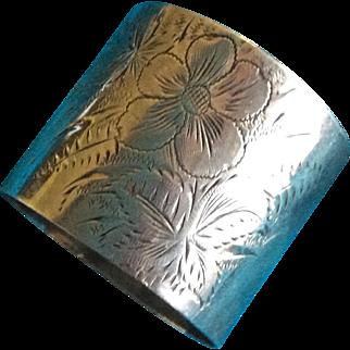 Aesthetic Sterling silver Napkin Ring Serviette Holder Engraved Helen