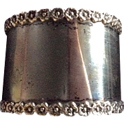 Sterling silver Poppy Napkin Ring