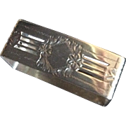 Pierced rectangular Sterling silver Napkin Ring Serviette Holder
