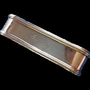 Large Oval Sterling silver Napkin Ring Serviette Holder Engraved Nancy