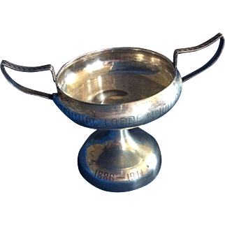 Footed 2 Handled Sterling silver Trophy dated 1911