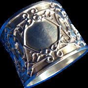 Ornate Bold and Unusual Sterling silver Napkin Ring Serviette Holder