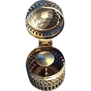 Elegant Sterling silver Thimble Holder Case for Chain or Chatelaine