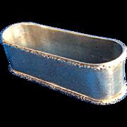 Oval Sterling silver Napkin Ring Serviette Holder by Lunt Unmonogrammed