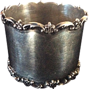 Large Sterling silver Fleur de Lis Napkin Ring By Towle