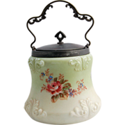 Victorian Wave Crest Biscuit Jar Mt. Washington Cookie Cracker Barrel Jar circa 1890s