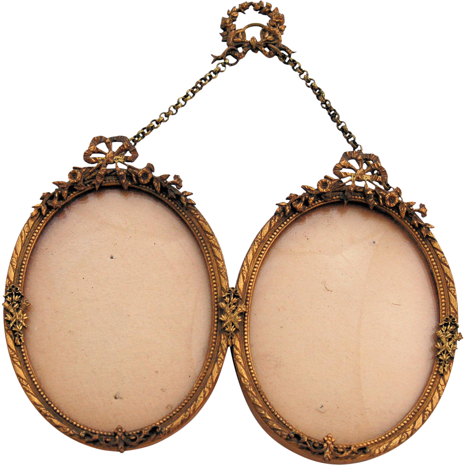 Antique french bows and ribbons oval frames brass ormolu 19th antique french bows and ribbons oval frames brass ormolu 19th century sold ruby lane jeuxipadfo Image collections