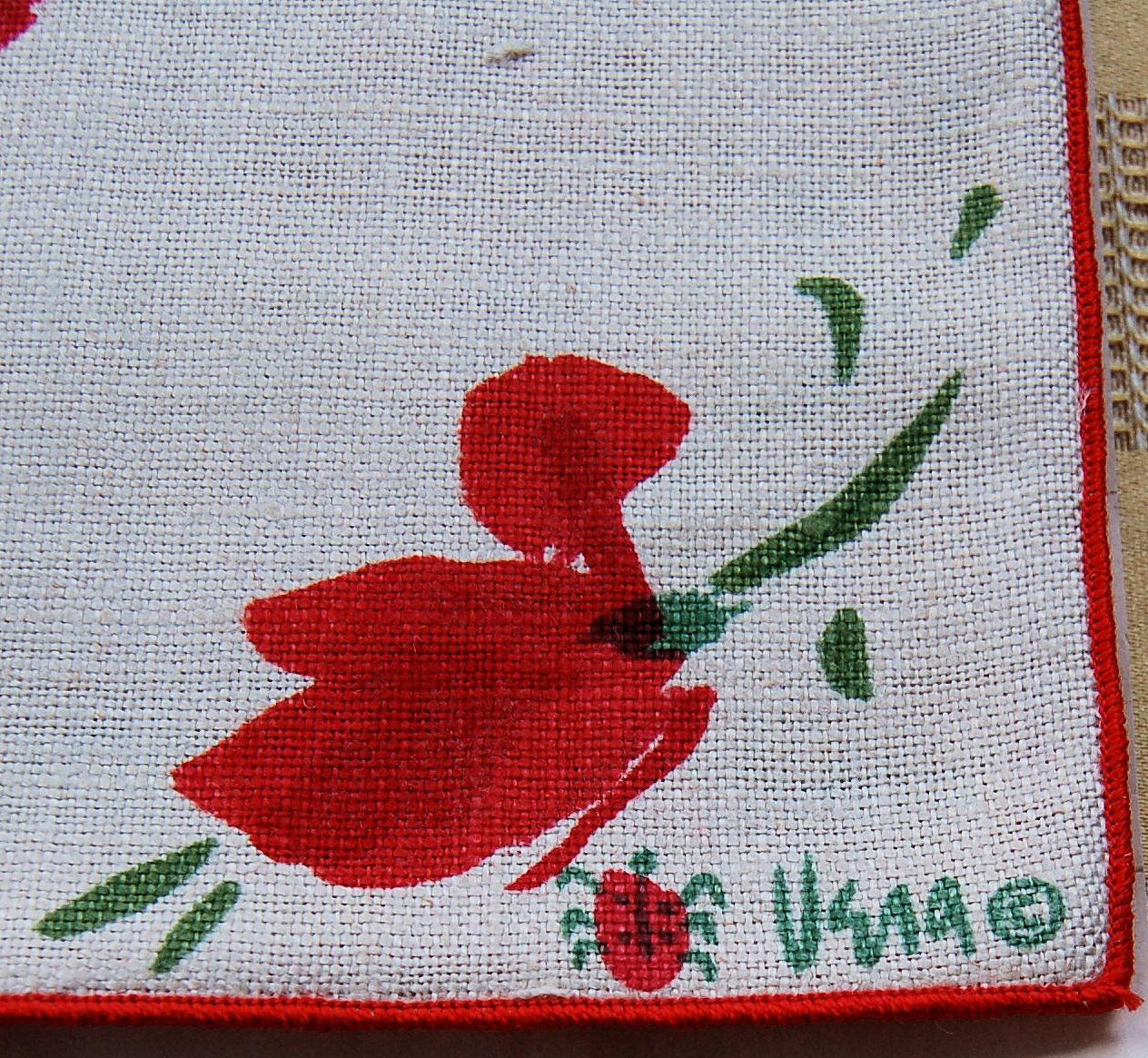 vintage vera belgium linen placemats and napkins eight