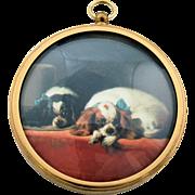 King Charles Spaniels Miniature Dog Portrait Wall Hanging Peter Bates England