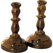 Vintage Miniature Brass Dollhouse Candlesticks Candleholders