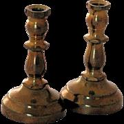 Miniature Brass Dollhouse Candlesticks Vintage Candleholders