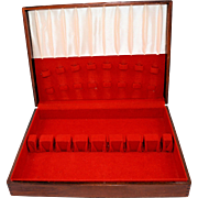 Wooden Flatware Box by Oneida Tarnish Resistant Chest for Silverware